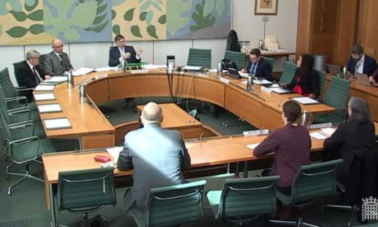 Philip Dunne MP chairs a meeting of the Environmental Audit Committee